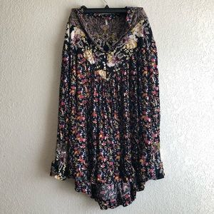 Free People floral boho tunic top